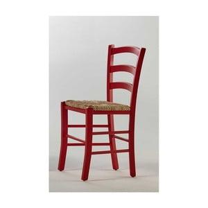 Červená stolička zborovicového dreva SOB Palerma