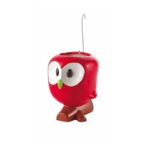Červený odparovač na radiátor s kvetináčom e-my