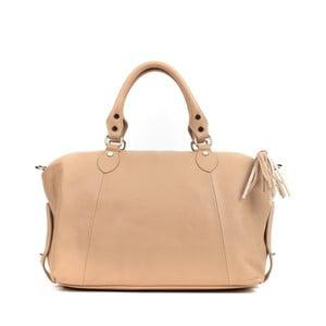 Béžová kožená kabelka Mangotti Bags Rubia