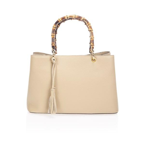 Béžová kožená kabelka Markes Tamsin