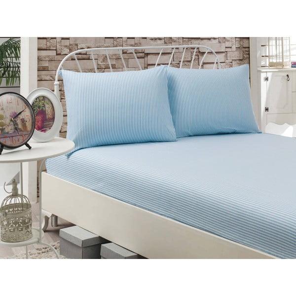Prestieradlo Cizgili Blue, 160x200 cm