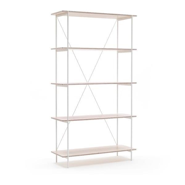 Knižnica One - biela, 80x144 cm