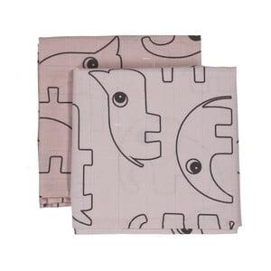 Mušelínové plienky Contour, ružové, 2 ks