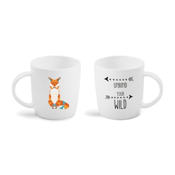 Porcelánový hrnček Vialli Design Wild Fox, 370 ml