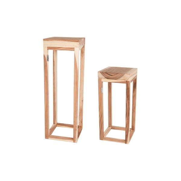 Sada 2 drevených stolíkov  Dijk Natural Collections Sivert