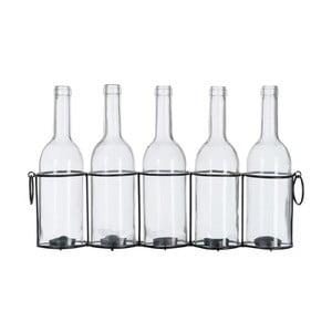 Sklenené fľaše Vintage, 45x9x26 cm