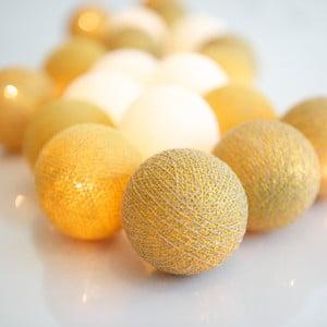 Svietiaca reťaz Irislights Gold, 10 svetielok