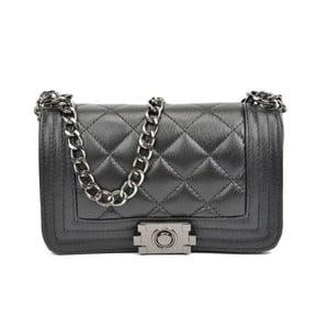 Čierne kožené listové kabelky Isabella Rhea Lismo