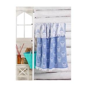 Modrý uterák Kurukafa, 180 x 100 cm