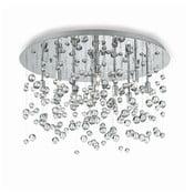 Stropné svietidlo Evergreen Lights Drops Chrome, 40cm