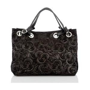 Čierna kožená kabelka Glorious Black Morana