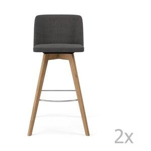 Sada 2 sivých barových stoličiek Tenzo Tom, výška 99cm