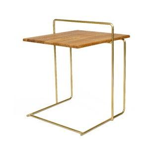 ODkladací stolík s doskou z dubového dreva Askala Carlo Bronze