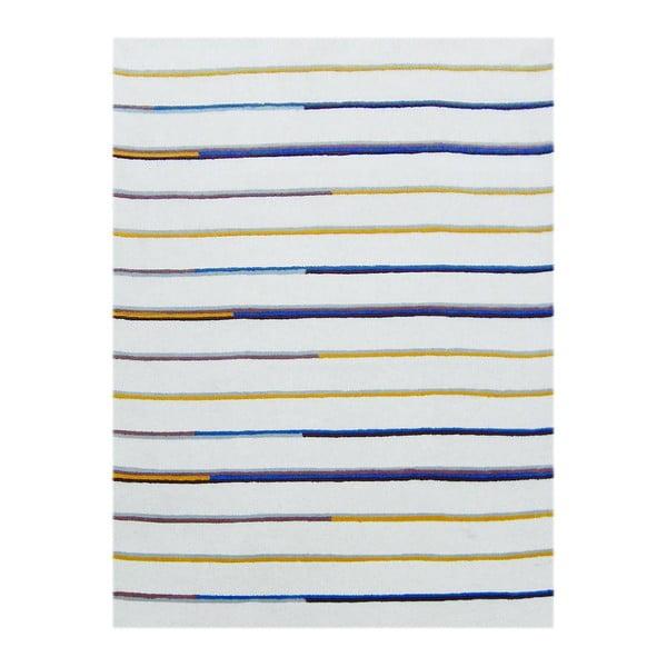 Ručne tuftovaný béžový koberec Bakero Stripe, 122 x 183 cm