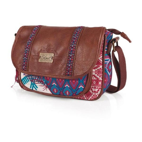 Ružovo-modrá kabelka SKPA-T, 24 x 17 cm