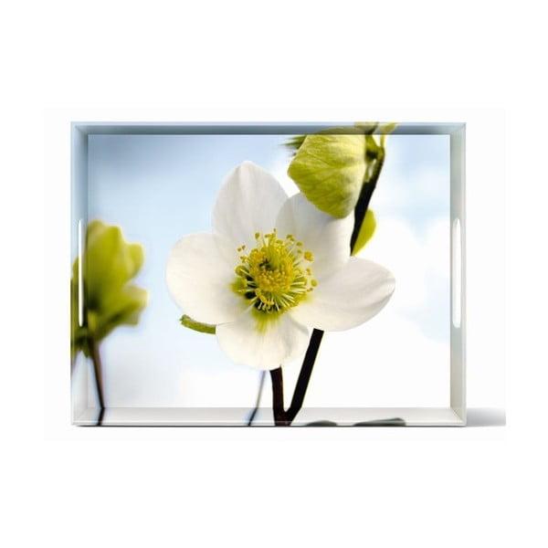 Podnos Classic White Blossom, 40x31 cm