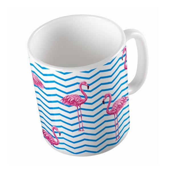 Keramický hrnček Flamingo in Water, 330 ml