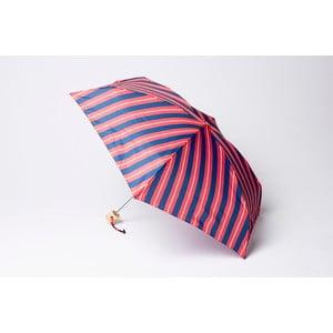 Skladací dáždnik Stripe, červeno-modrý