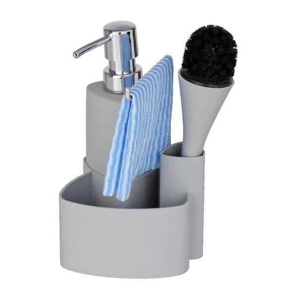 Sivý set na umývanie riadu Wenko Empire, 250ml
