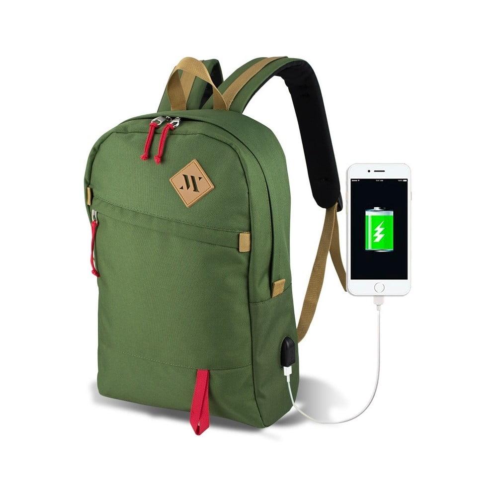 Zelený batoh s USB portom My Valice FREEDOM Smart Bag