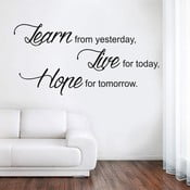 Samolepka na stenu Learn Live Hope, 70x50 cm