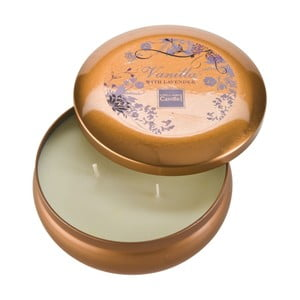 Aroma sviečka v plechovke  Vanilla & Lavender Large, doba horenia 28 hodín