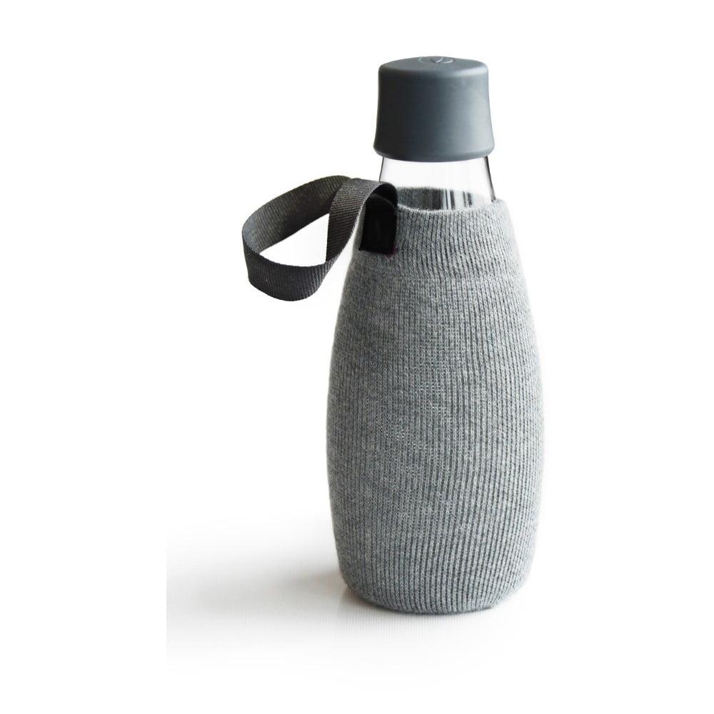 Sivý obal na sklenenú fľašu ReTap s doživotnou zárukou, 500 ml
