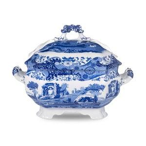 Bielo-modrá porcelánová misa na polievku Spode Blue Italian, 3,4 l