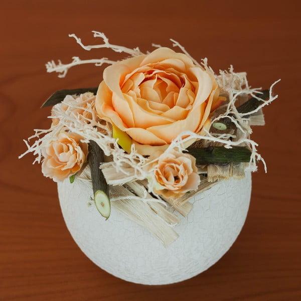 Kvetinová dekorácia od Aranžérie, malé oranžové ruže