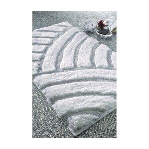 Biela predložka do kúpeľne Confetti Bathmats Karya, 50x60cm