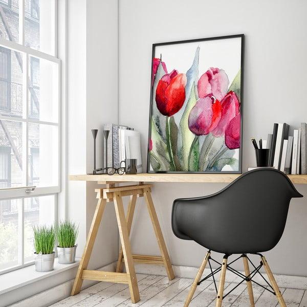Plagát s tulipánmi, 30 x 40 cm