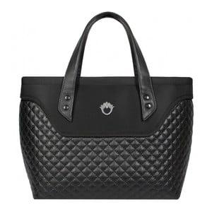 Kufríková kabelka Goshico Flowerbag, čierna