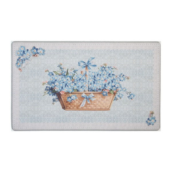 Rohožka Blue Blossom, 74x44 cm