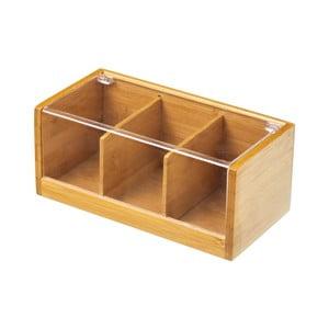 Bambusová škatuľa na čaj škatuľa na čaj Bamboo, 21×11 cm