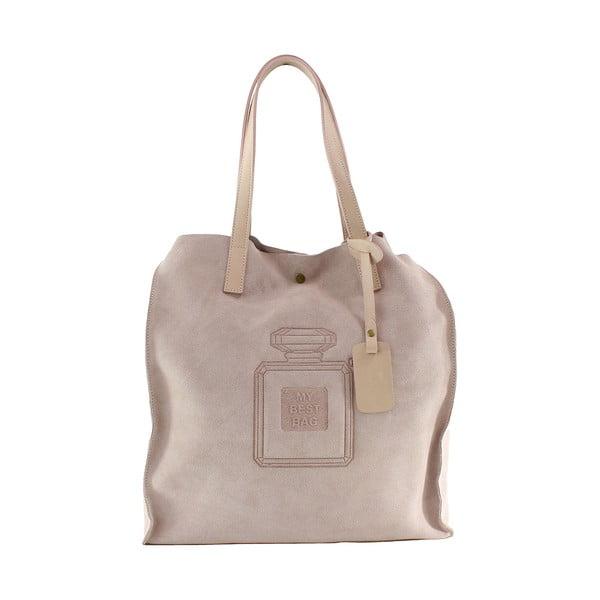 Kožená kabelka Perfume, růžová