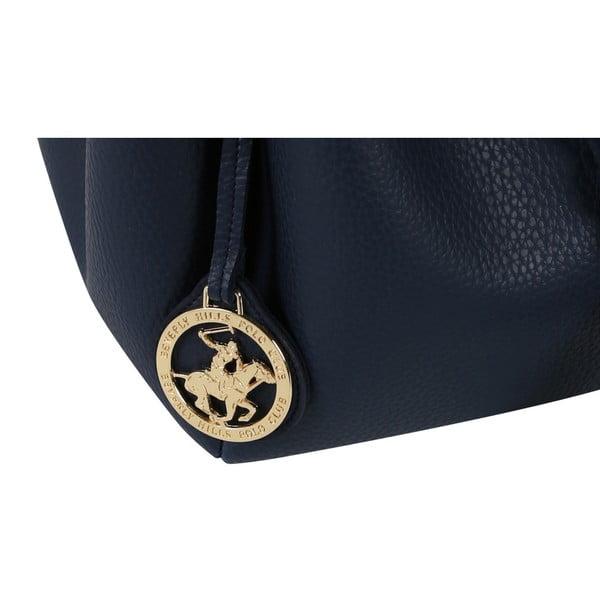 Tmavomodrá kabelka z eko kože Beverly Hills Polo Club Kate
