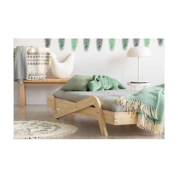 Detská posteľ z borovicového dreva Adeko Zig, 70×160 cm