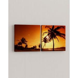 Sada 2 obrazov Palmový raj