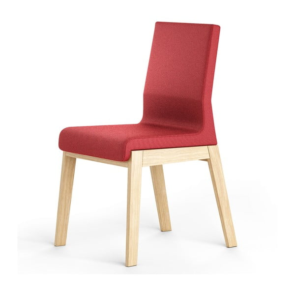 Červená stolička z dubového dreva Absynth Kyla