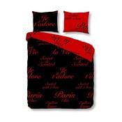 Obliečky Paris Black Red, 140x200 cm