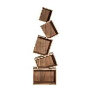 Knižnica z agátového dreva Kare Design Balance