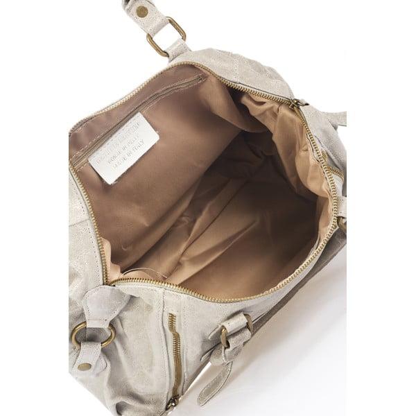 Kožená kabelka Kiara, sivá