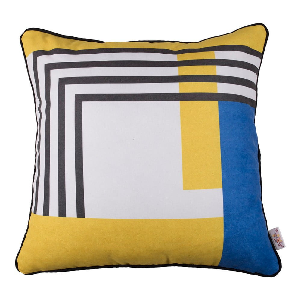 Obliečka na vankúš Mike & Co. NEW YORK Abstract Shapes Block, 43 × 43 cm