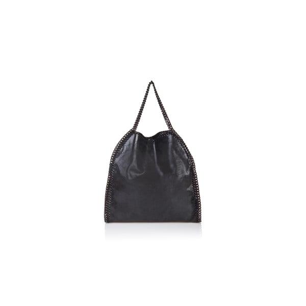 Čierna kožená kabelka Massimo Castelli Caterina