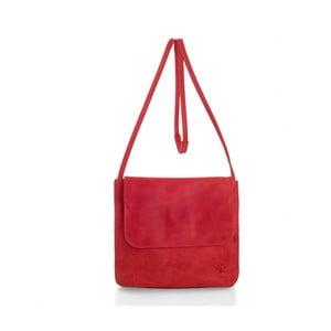 Červená kožená kabelka cez rameno Woox Costa