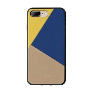 Béžový kožený obal na mobilný telefón pre iPhone 7 a 8 Plus Native Union Cl