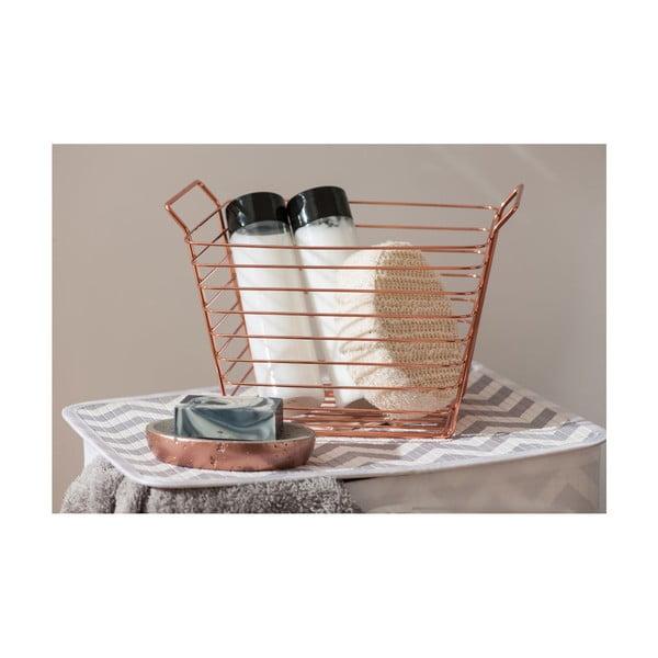 Medený úložný košík Premier Housewares Mafalda, 17×21cm