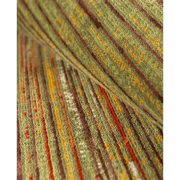 Vlnený koberec Coimbra no. 172, 60x120 cm, zelený