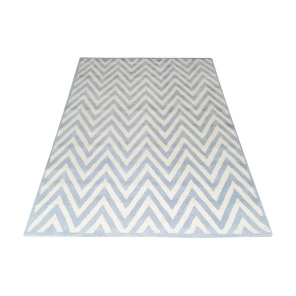Vlnený koberec Ziggy Light Blue, 153x244 cm