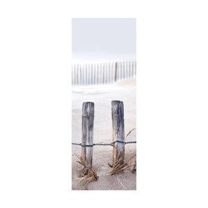 Sklenený obraz Fence In The Dunes, 30x80 cm